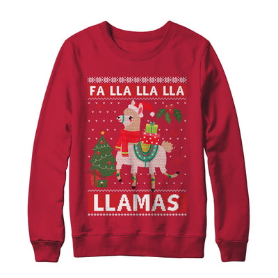 Fa Lla Lla Llama Christmas Singing Cute Ugly Sweater T-Shirt & Sweatshirt | Teecentury.com