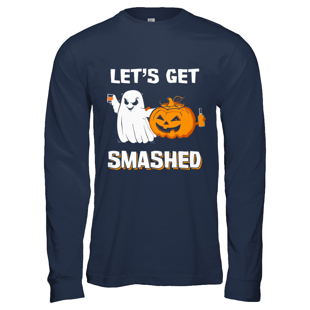 b46bff69 Let's Get Smashed Drinking Pumpkin Halloween Shirt & Hoodie ...