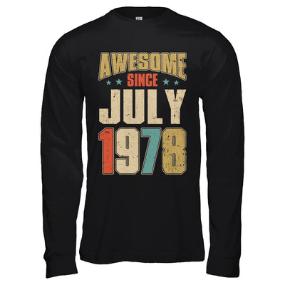 Vintage Retro Awesome Since July 1978 42th Birthday T-Shirt & Hoodie | Teecentury.com