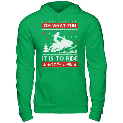 Snowmobile Sweater Christmas Oh What Fun It Is To Ride T-Shirt & Hoodie | Teecentury.com