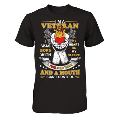I'm A Veteran I Was Born With My Heart On My Sleeve T-Shirt & Hoodie | Teecentury.com