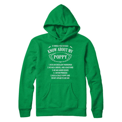 5 Things You Should Know About My Poppy Granddaughter T-Shirt & Sweatshirt | Teecentury.com
