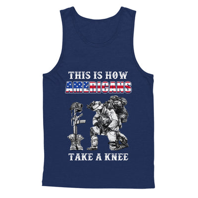 Veteran This Is How Americans Take A Kneel T-Shirt & Hoodie | Teecentury.com