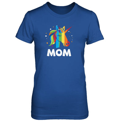 LGBT Pride Lesbian Gay Proud Mom Unicorn T-Shirt & Tank Top | Teecentury.com