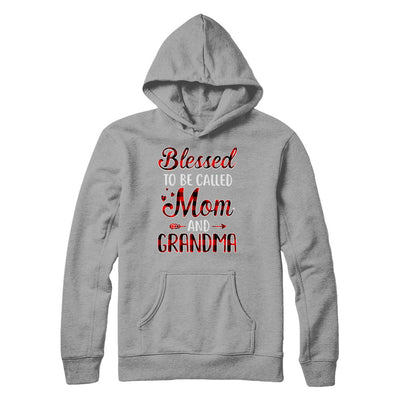 Red Buffalo Plaid Blessed To Be Called Mom And Grandma T-Shirt & Hoodie | Teecentury.com
