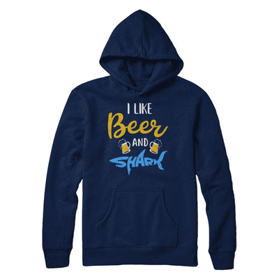 Funny Ocean I Like Beer And Sharks Gift T-Shirt & Hoodie | Teecentury.com