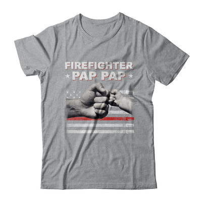 Firefighter Fireman Pap Pap American Flag Fathers Day T-Shirt & Hoodie | Teecentury.com