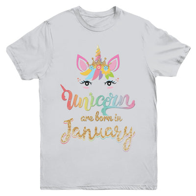 Cute Unicorns Are Born In January Birthday Gift Youth Youth Shirt | Teecentury.com