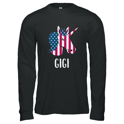 Patriotic Gigi Unicorn Americorn 4Th Of July T-Shirt & Hoodie | Teecentury.com