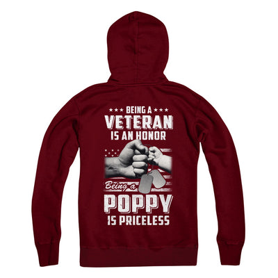 Being A Veteran Is An Honor Being A Poppy Is Priceless T-Shirt & Hoodie | Teecentury.com