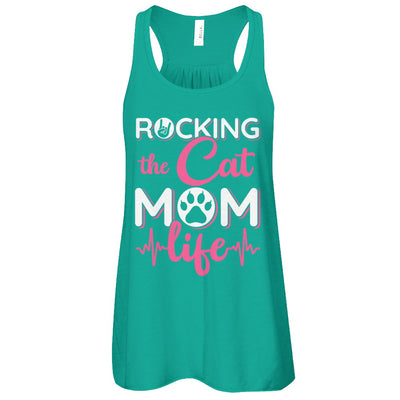 Rocking The Cat Mom Life T-Shirt & Tank Top | Teecentury.com