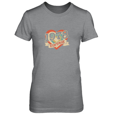 Vintage Retro Classic Heart Made In 1978 T-Shirt & Tank Top | Teecentury.com
