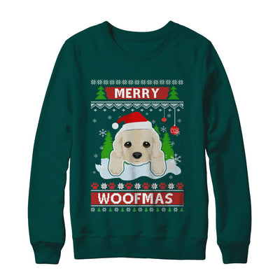Golden Retriever Merry Woofmas Ugly Christmas Sweater T-Shirt & Sweatshirt | Teecentury.com