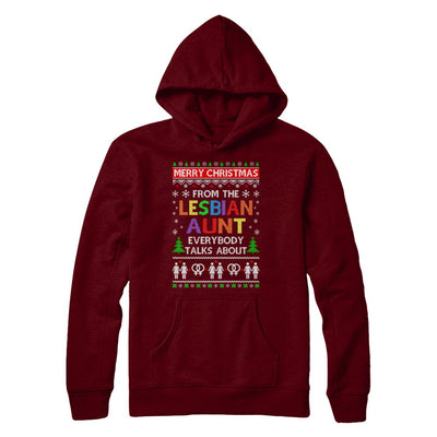 LGBT Merry Christmas From Lesbian Aunt Ugly Christmas Sweater T-Shirt & Sweatshirt | Teecentury.com