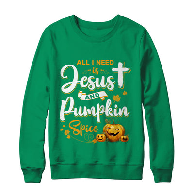 All I Need Is Jesus And Pumpkin Spice Halloween T-Shirt & Sweatshirt | Teecentury.com