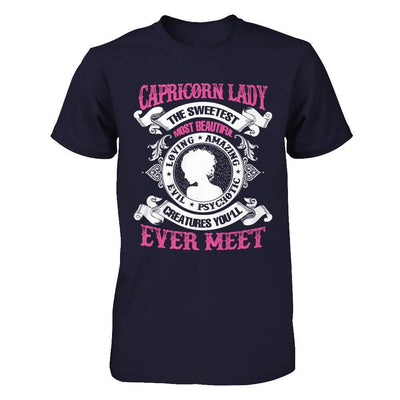 Capricorn Lady The Sweetest Most Beautiful Love Amazing T-Shirt & Hoodie | Teecentury.com