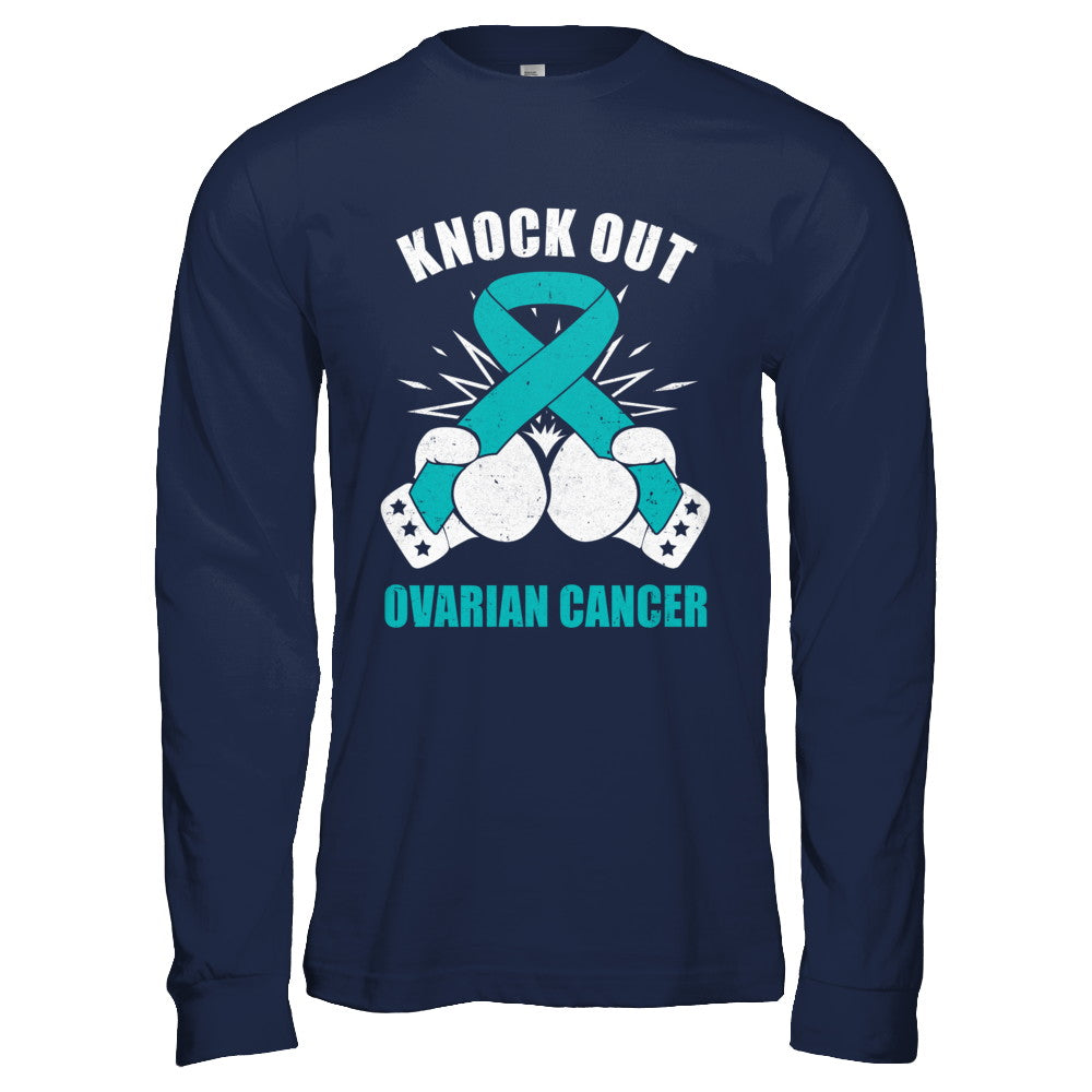 0099bd39d5 Boxing knock out Ovarian Cancer Awareness Support Shirt & Hoodie ...