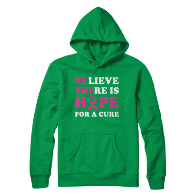 Believe There Is Hope For A Cure Breast Cancer Awareness T-Shirt & Hoodie | Teecentury.com