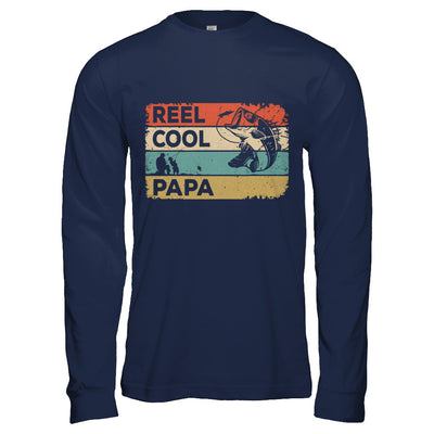 Vintage Reel Cool Papa Fish Fishing Fathers Day T-Shirt & Hoodie | Teecentury.com