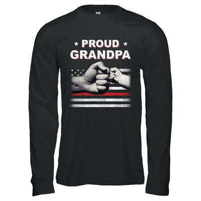 Proud Grandpa Fireman Firefighter Thin Red Line Flag Fathers Day T-Shirt & Hoodie | Teecentury.com