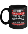 Merry Christmas Sister-In-Law A Gift From Your Brother-In-Law Sweater Mug Coffee Mug | Teecentury.com