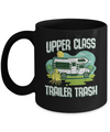 Upper Class Trailer Trash Dad Mom Grandpa Grandma Camping Mug Coffee Mug | Teecentury.com