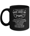 5 Things You Should Know About My Pops Granddaughter Mug Coffee Mug | Teecentury.com