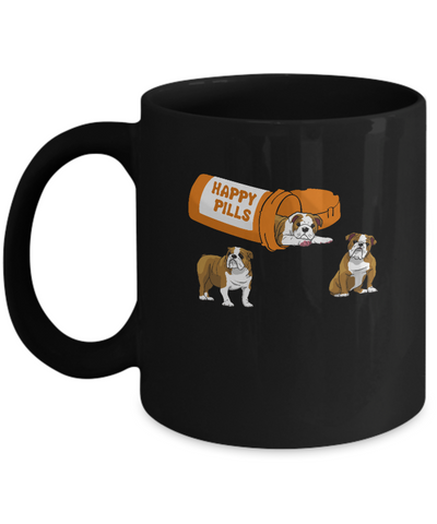 Bulldogs Happy Pills Mug Coffee Mug | Teecentury.com
