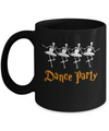 Ballet Skeleton Dance Party Happy Halloween Mug Coffee Mug | Teecentury.com