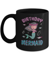 Birthday Mermaid Party Dabbing Mug Coffee Mug | Teecentury.com