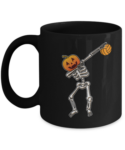 Halloween Dabbing Skeleton Volleyball Mug Coffee Mug | Teecentury.com
