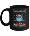 Santa Hat Aunt Shark Ugly Christmas Sweater Mug Coffee Mug | Teecentury.com