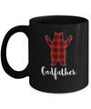 Red Godfather Bear Buffalo Plaid Family Christmas Pajamas Mug Coffee Mug | Teecentury.com
