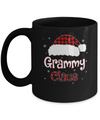 Santa Grammy Claus Red Plaid Family Pajamas Christmas Gift Mug Coffee Mug | Teecentury.com