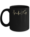 Acoustic Guitar Heartbeat Mug Coffee Mug | Teecentury.com