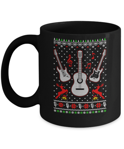 Singer Song Guitar Ugly Christmas Sweater Mug Coffee Mug | Teecentury.com