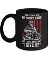 How My Story Ends But It Will Never Say I Gave Up Veteran Mug Coffee Mug | Teecentury.com