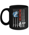 Reel Cool Dad American Flag Fish Fishing Fathers Day Mug Coffee Mug | Teecentury.com