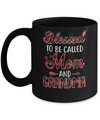 Red Buffalo Plaid Blessed To Be Called Mom And Grandma Mug Coffee Mug | Teecentury.com