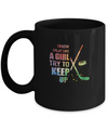 Yeah I Play Like A Girl Hockey Girl Mug Coffee Mug | Teecentury.com