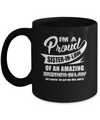 I'm A Proud Sister-In-Law Of An Amazing Brother-In-Law Mug Coffee Mug | Teecentury.com