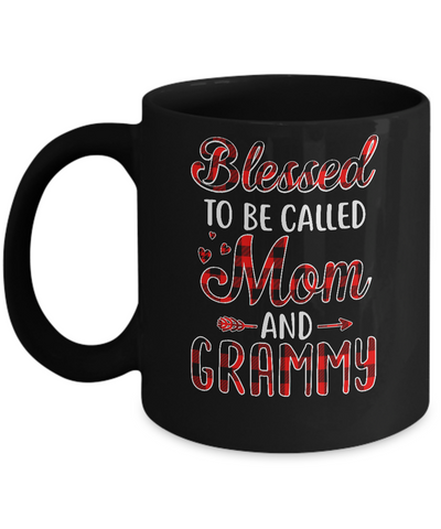 Red Buffalo Plaid Blessed To Be Called Mom And Grammy Mug Coffee Mug | Teecentury.com