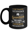 Vietnam Veteran's Grandson I Was Raised By Mine Mug Coffee Mug | Teecentury.com