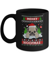 Pug Merry Woofmas Ugly Christmas Sweater Mug Coffee Mug | Teecentury.com