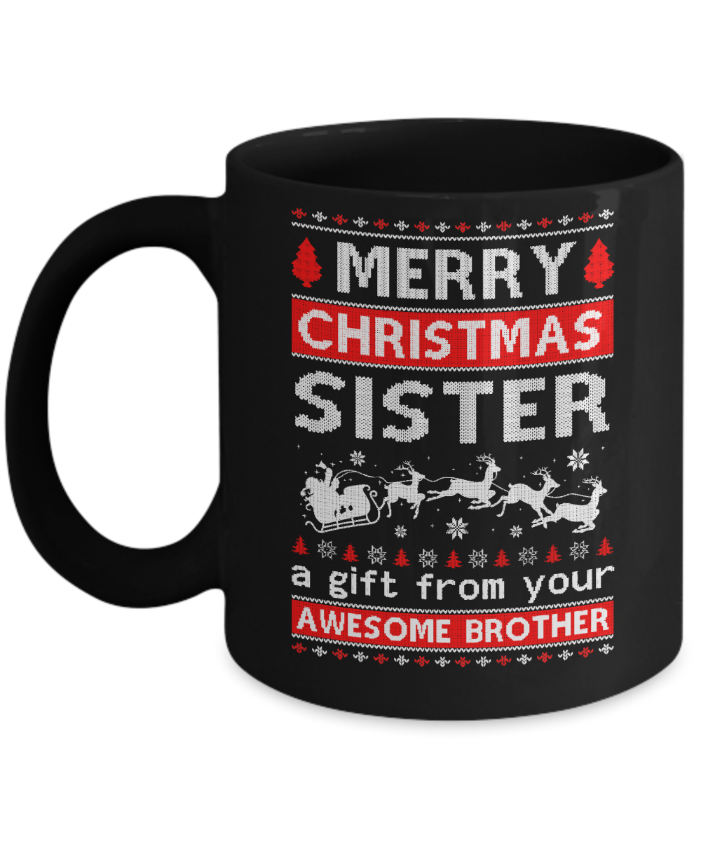 merry christmas sister a gift from your brother sweater mug
