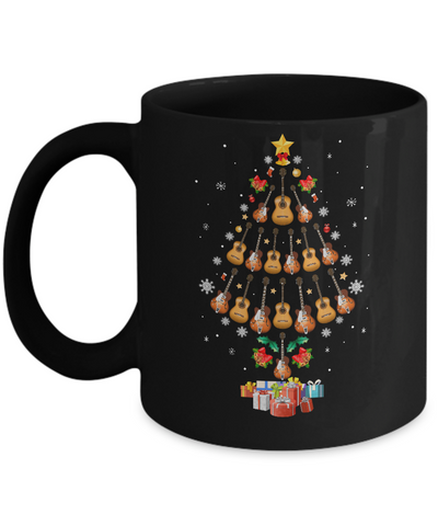 Music Guitar Christmas Tree Merry Xmas Gift Mug Coffee Mug | Teecentury.com