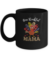One Thankful Mama Leopard Turkey Thanksgiving Gift Mug Coffee Mug | Teecentury.com