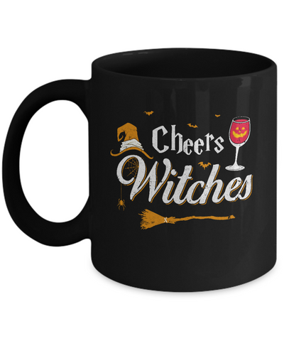 Cheers Witches Happy Hallowine Witch Halloween Mug Coffee Mug | Teecentury.com