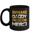 Husband Daddy Protector Hero Mug Coffee Mug | Teecentury.com