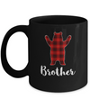 Red Brother Bear Buffalo Plaid Family Christmas Pajamas Mug Coffee Mug | Teecentury.com